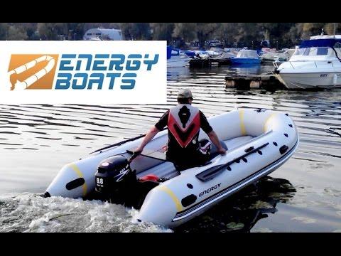 Надувная моторная лодка Energy N 420 с килем и надувной палубой НДНД