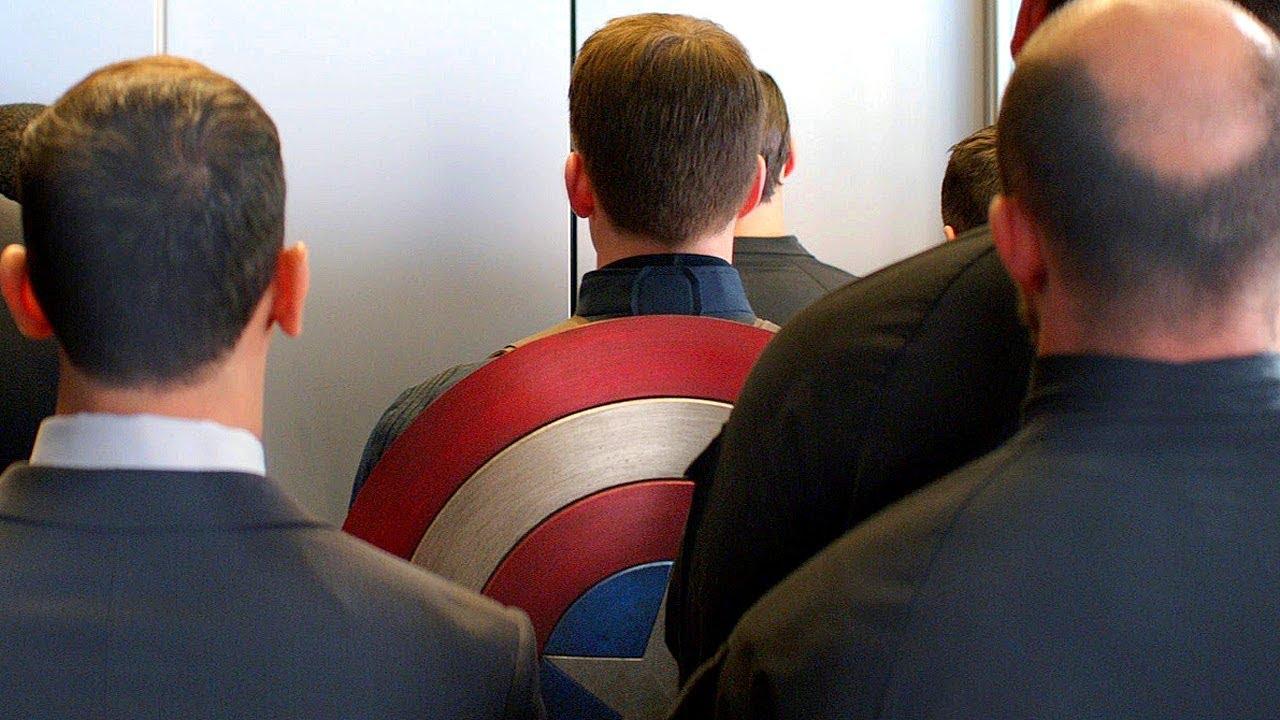 Elevator Fight Scene Captain America The Winter Soldier 2014