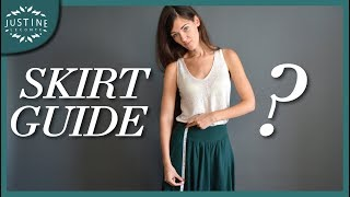 Find the perfect skirt for your body type | SKIRT GUIDE - SPRING FASHION | Justine Leconte
