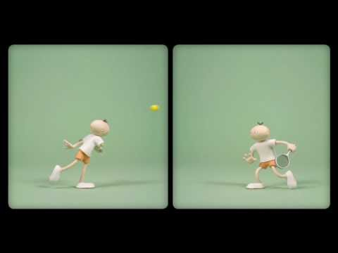 Mac and Roe splitscreen stopmotion animation
