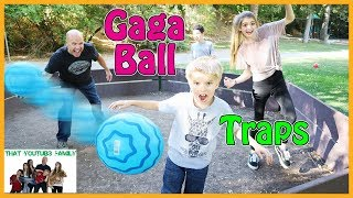 Family Fun Gaga Ball Game With Traps / That YouTub3 Family