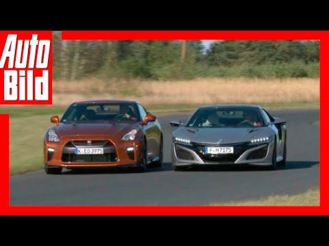 Nissan GT R vs Honda NSX 2016 Vergleich Test Review