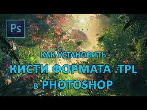 Как установить кисти формата TPL в Photoshop