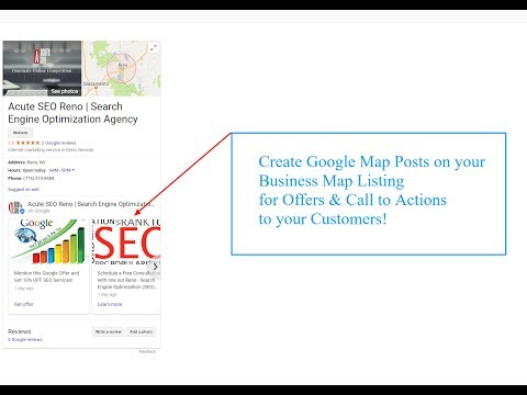 How to Create Posts on Google Maps Listing | New Google My Business 2018 Update