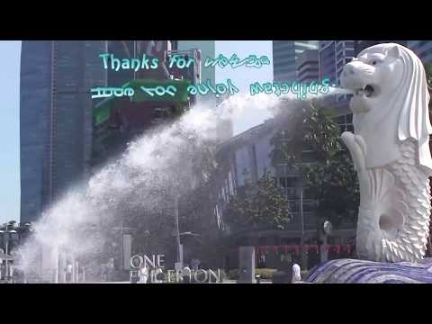 Merlion of The Lion City (Official Tourism Icon Of Singapore) @ Merlion Park Singapore (HD)