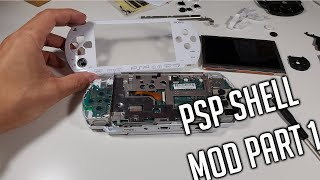 PSP White Housing Mod Part 1 - VLOG - How it all started - Playstation Portable 1000 (Phat) Mods