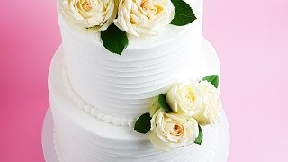 White Frosted Wedding Cake Tutorial- Rosie