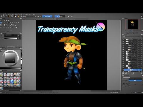 Krita tutorial: understanding transparency masks