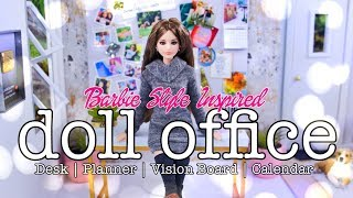 DIY - How to Make: Barbie Style Inspired Office | Desk | Vision Board & more