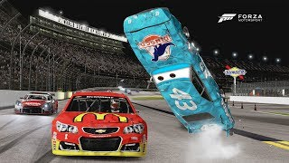 THE KING'S HUGE FLIP! | Forza Motorsport 6 | NASCAR/R Class thumbnail
