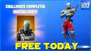 FREE HUNTING PARTY TODAY! - FORTNITE BATTLE ROYALE - PS4 PRO
