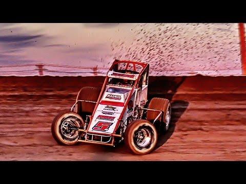 Black Flagged Pros SprintCar Main Central Arizona Speedway Casa Grande, AZ Feb 25th 2017 Facebook- @BlackFlaggedPros Facebook- ... - dirt track racing video image