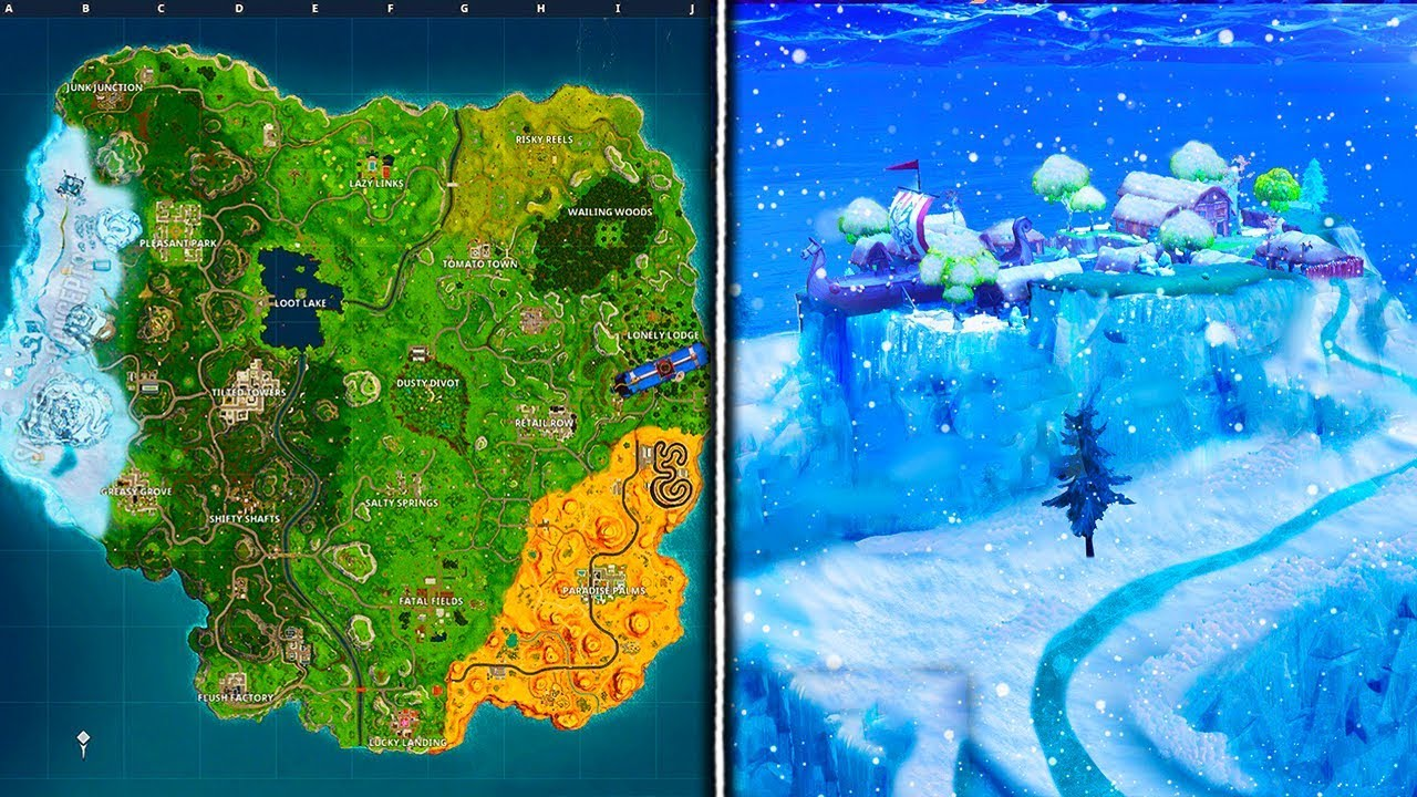 Fortnite Battle Royale Season  Map Update