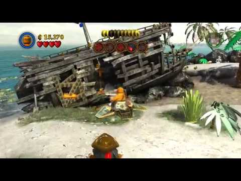 Lego Pitares of The Caribbean Isla Cruces Free Play All Secret