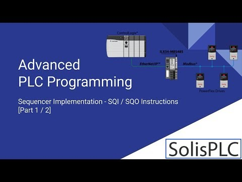 PLC Sequencer Programming - Tutorial on SQI SQO Instructions in RSLogix  5000 Ladder Logic [Part 1]
