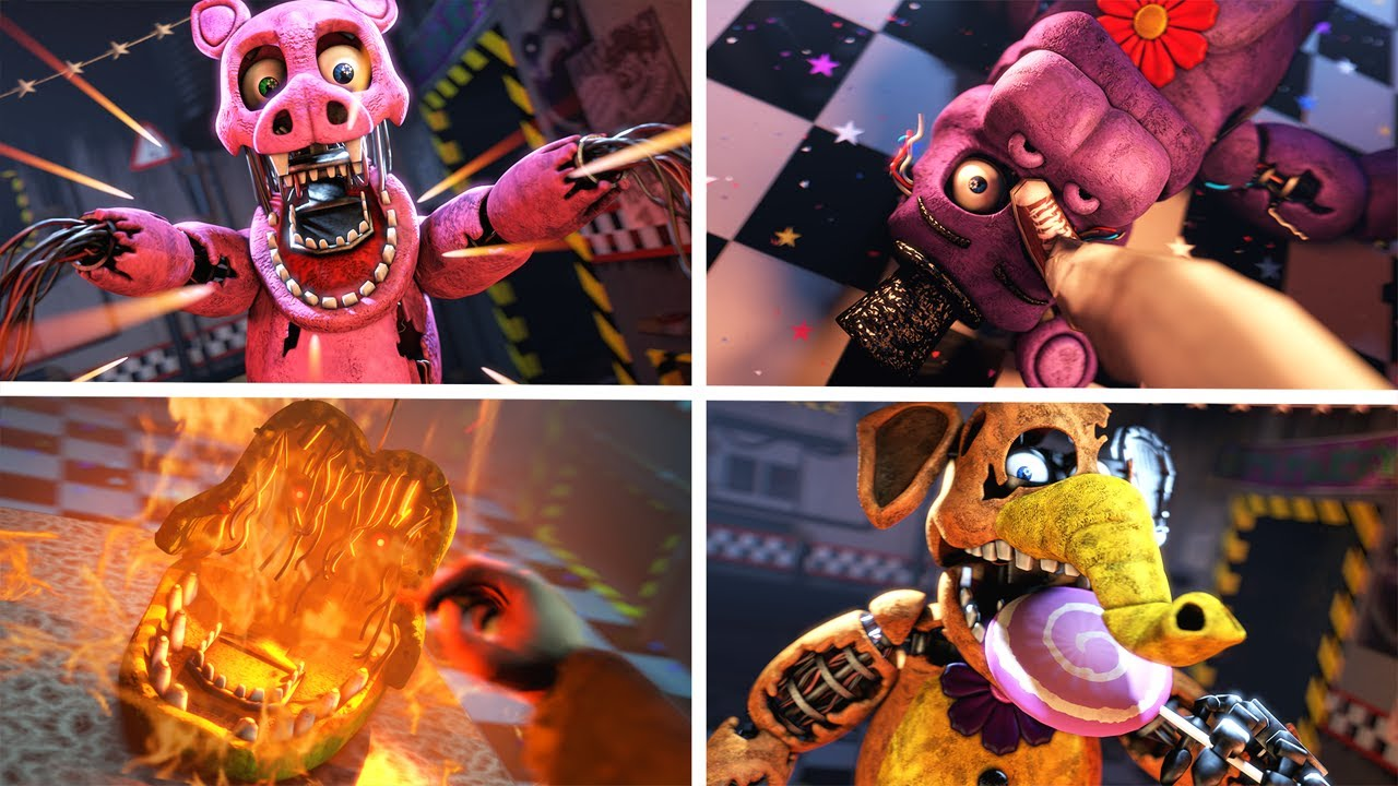 [SFM FNAF] FNaF Withered Melodies Counter Jumpscares