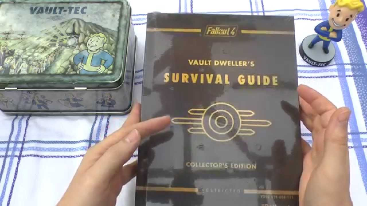 Fallout 4 survival guide collector's edition youtube.