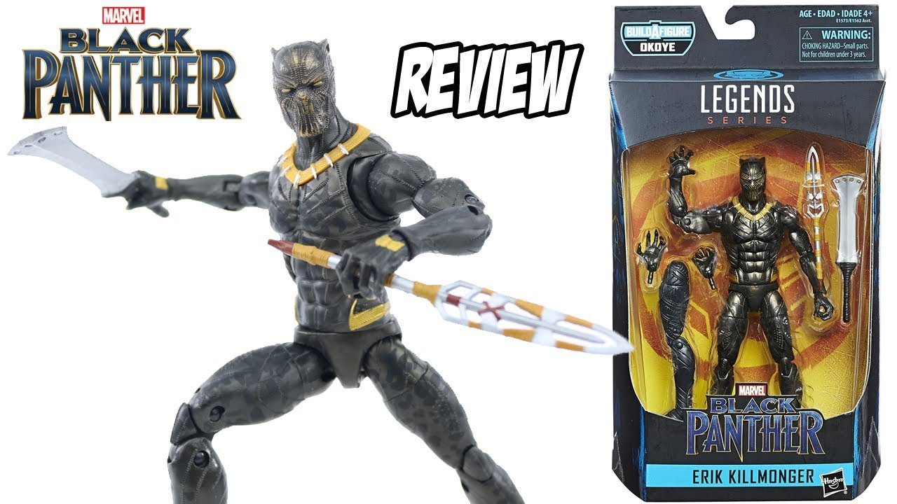 Review ERIK KILLMONGER Marvel Legends filme Pantera Negra Black Panther   brinquedo boneco