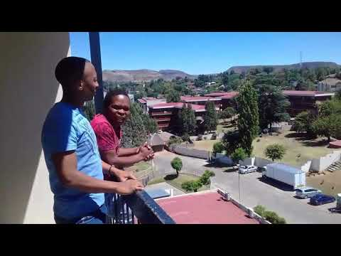 Cleo Bonny doing a Comedy practice in Lesotho with lilaphalapha in  Maseru City tour