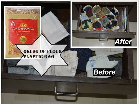 DIY Drawer Organizer using plastic bag | Best from Waste | Recycle | Reuse of Plastic bag