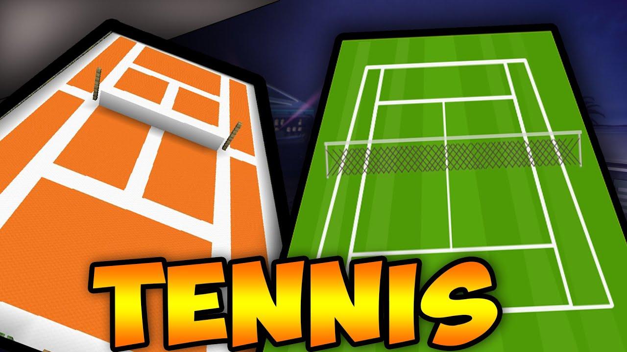 MINECRAFT]COMMENT FAIRE UN TERRAIN DE TENNIS. - YouTube
