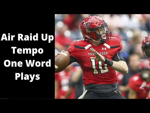Air Raid Up Tempo One Word Plays