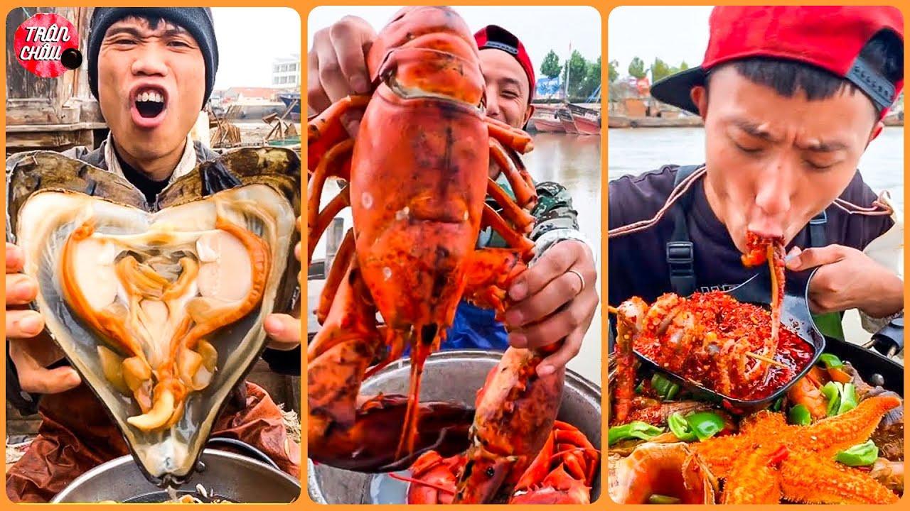 🌶️🔥 Ăn Hải Sản SIÊU CAY Tại Thuyền Cùng Ngư Dân Trung Quốc |  ASMR SPICY SEAFOOD MUKBANG 🐙🦑 p2