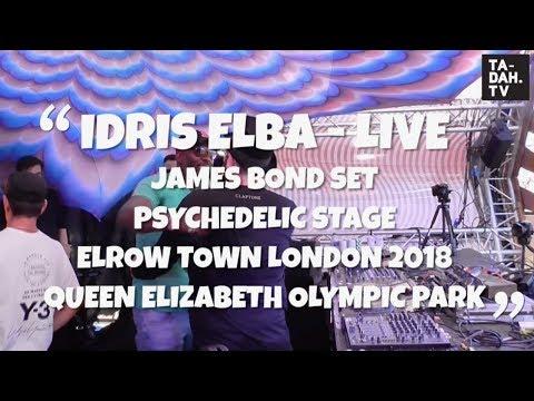 Idris Elba at Elrow Town London 2018 - James Bond Intro
