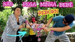 NÃO PEGUE MINHA BEBÊ REBORN 2 -  The abandoned baby reborn - ANNY E EU