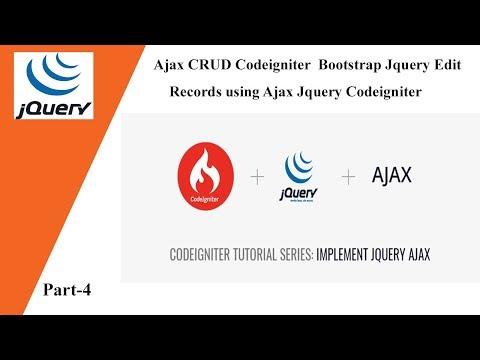 Ajax CRUD Codeigniter Bootstrap Jquery 💡 Edit Records using
