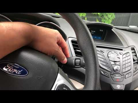 FORD FIESTA- Windshield wiper control his operation – how to operate