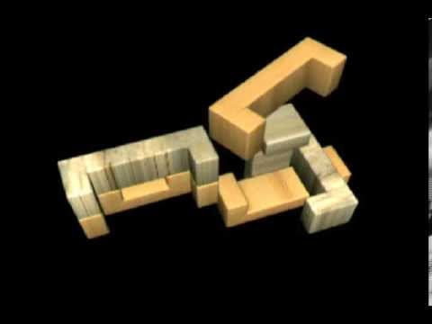 6 Piece Wooden Block Puzzle Animated Solution
