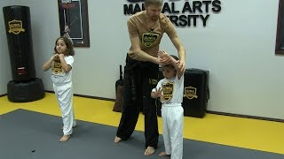 Martial Arts for Kids - First Self Defense Lesson (Krav Maga)