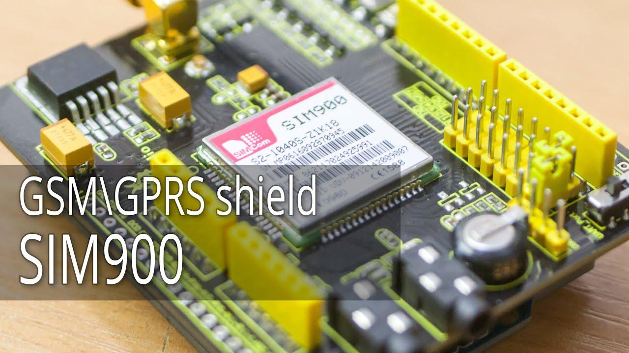 GSMGPRS shield SIM900, Первый взгляд