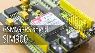 GSM\GPRS shield SIM900, Первый взгляд
