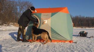 На улице 20 а в палатке жара Зимняя рыбалка в мороз