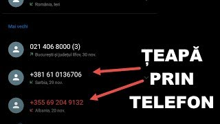 CEA MAI NOUA ȚEAPA PRIN TELEFON