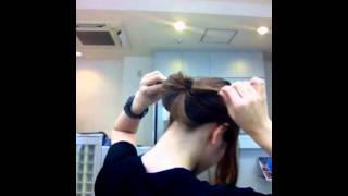 Repeat youtube video シンプルなまとめ髪
