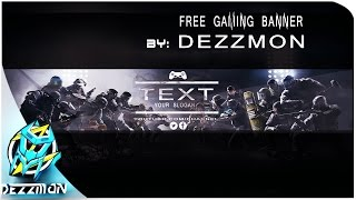 RAINBOW SIX YOUTUBE BANNER TEMPLATE