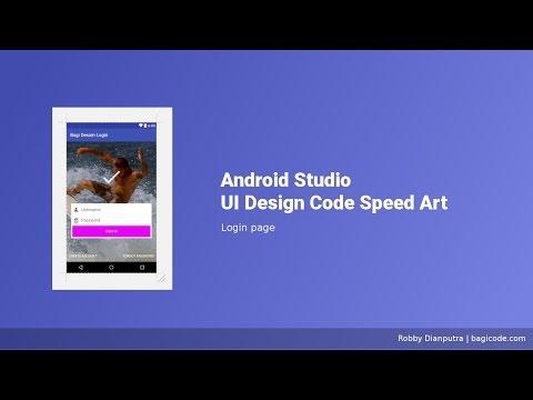 Login Page   Android Studio UI Design XML Speed Art