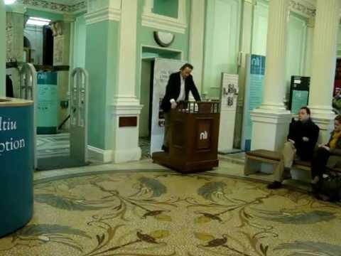 Sean Hillen, Roy Foster opening speech at book launch National Library, Dublin 25th April 2013.