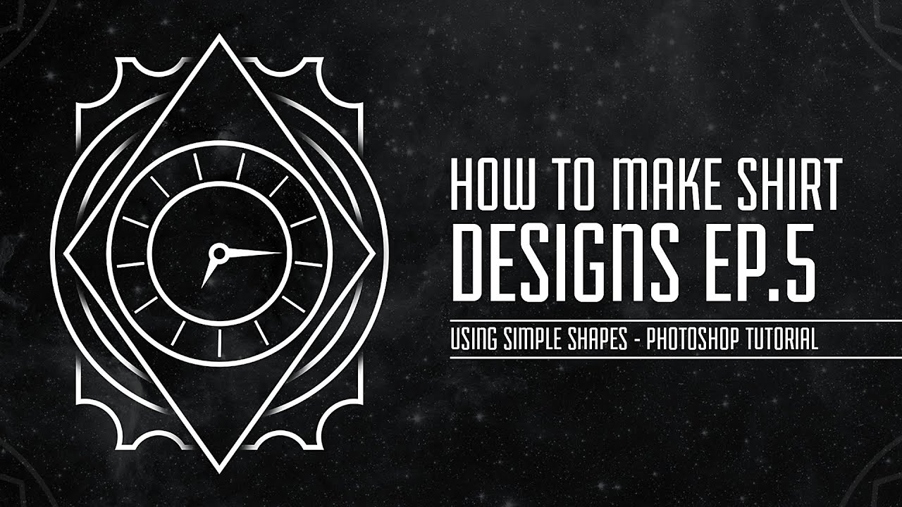 Shirt design graphics - How To Make Shirt Designs Ep 5 Using Simple Shapes In Photoshop