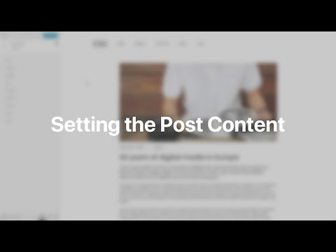 Setting The Post Content | YOOtheme Documentation (WordPress)