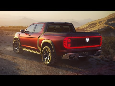 2018 Volkswagen Atlas Tanoak Pickup Concept – Revealed at the New York Auto Show