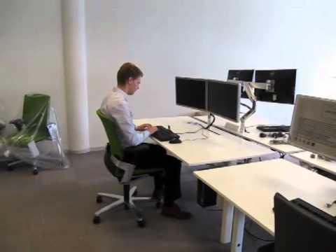 Instellen bureau en stoel youtube
