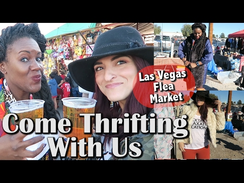 BroadAcres Flea Market in Vegas + HAUL |Come Thrifting With Us |#ThriftersAnonymous