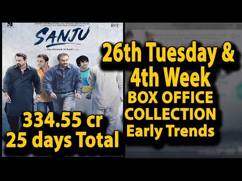 Sanju 26th day Tuesday Box Office Collection | Sanju 4th Week Collection Early Trends