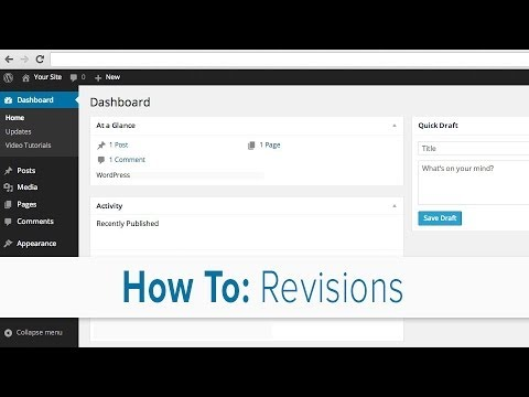 Restoring an earlier verision of a page using page revisions