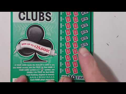 $2 CLUBS! TEXAS LOTTERY SCRATCH OFF TICKET