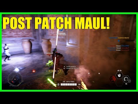Star Wars Battlefront 2 - Post patch Darth Maul! Fixed Saber throw! | Amazing gunfights!